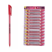 Matador Orbit Ball Pen Red - 12 Pcs